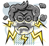 Pirmadienio anglų kalbos idioma | Face like thunder